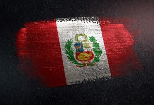 bandera-peru-hecha-pintura-pincel-metalico-pared-oscura-grunge_1379-2558